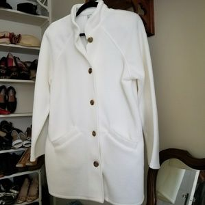 Vintage - White Fleece Coat